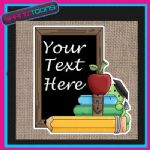 SCHOOL TEACHER GIFT PERSONALISED JUTE SHOPPING BAG 004